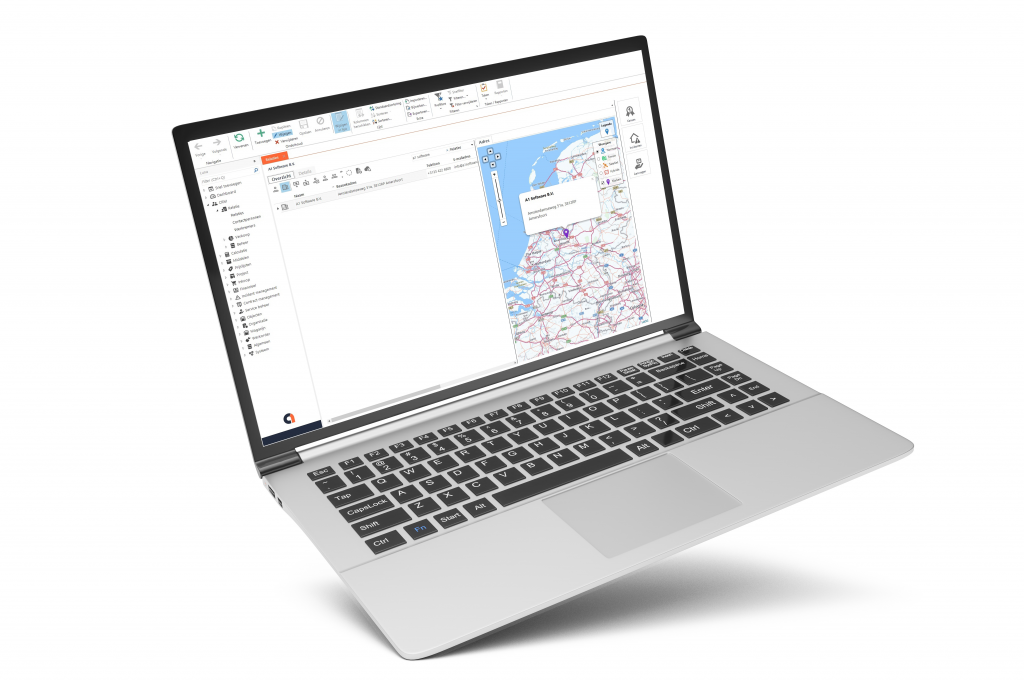 Laptop met A1 Software scherm